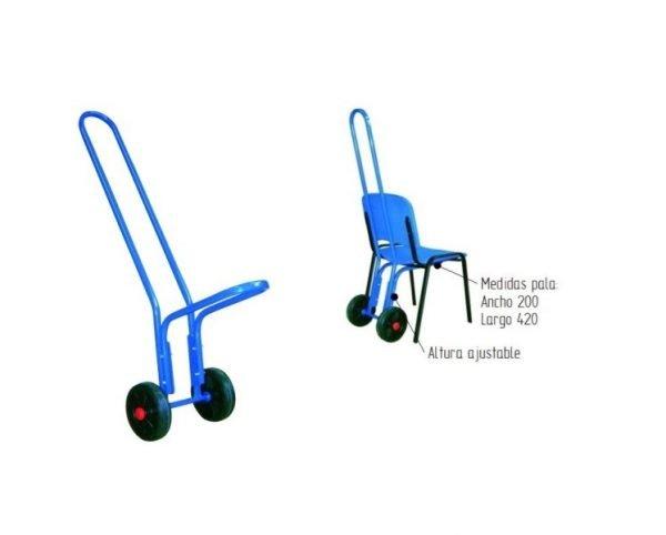 carro para sillas transporte