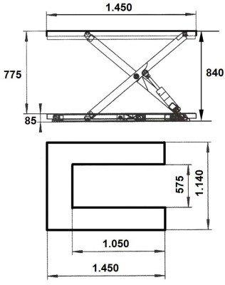 mesa de tijera hidraulica 1