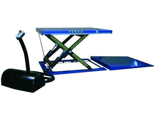 mesa eléctrica plana con rampa