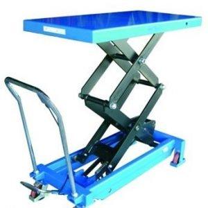 mesa de doble tijera