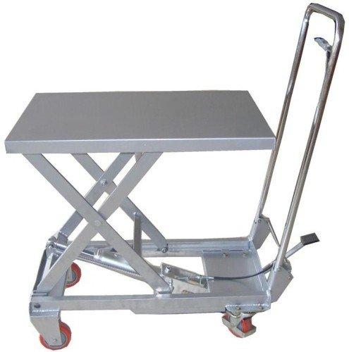 Mesa Elevadora Tijera Aluminio, hidráulica