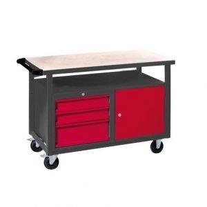 Mesa Trabajo con Ruedas, carro de herramientas taller mecánico