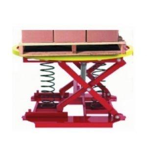 Mesa elevadora tijera ajustable en función del peso